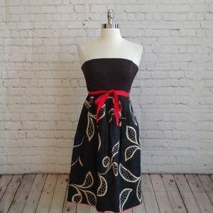 Anthropologie Maeve Floral Linen Strapless Dress 2